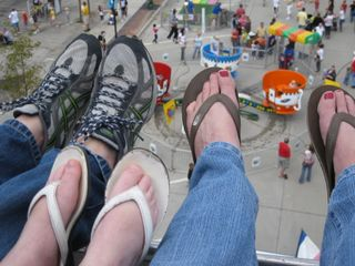 Feet on a Ferris Wheel